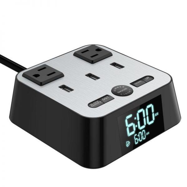 USB Ports Alarm Clock